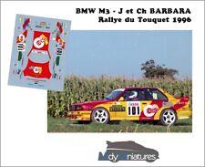 Décals 1/43ème J. Barbara - BMW M3 - Rallye du Touquet 1996