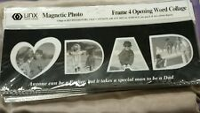 Lot of 2 Magnetic Photo Frame ♡ Dad 4 Opening Word Collage Frame New