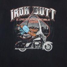 Vintage Harley Davidson Iron Butt Tee Shirt size L/Xl soft thin Distressed rare