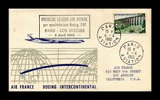 DR JIM STAMPS PARIS LOS ANGELES AIRMAIL FIRST FLIGHT FRANCE COVER