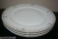 LOT OF 4 N & CO. NAGOYA NIPPON BLUE FLORAL DESIGN DINNER PLATES 1920'S Ex Cond