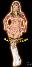 ***SALE*** 70's Fancy Dress Costume # 60/70's Psychedelic Dress M