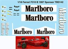 1/18 FERRARI SPONSOR F310B 1997 MICHAEL SCHUMACHER DECALS TB DECAL TBD142