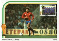 St VINCENT 7 MAY 1986 MEXICO WORLD CUP FOOTBALL FIRST DAY MAXI CARD SPAIN