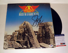 STEVEN TYLER AEROSMITH SIGNED ROCK IN A HARD PLACE VINYL ALBUM PSA/DNA COA