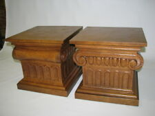 "*PAIR* Drexel Furniture ""Guildhall"" Ionic Capital Occasional Tables Circa 1960"