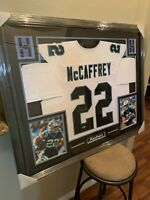 Christian Mccaffrey Authentic Autograph Framed Jersey COA Panthers NFL