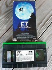E.T. The Extra Terrestrial 1988 VHS Rare Green Black Edition
