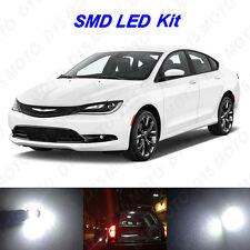 7 x White LED Interior Bulbs + License Plate Lights for 2015 2016 Chrysler 200