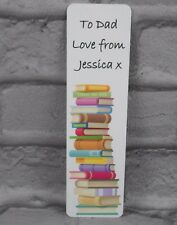 Personalised Metal Bookmark Any Name and Message Book Gift Teacher