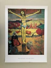 PAUL GAUGUIN,'YELLOW CHRIST ',RARE AUTHENTIC 1990's ART PRINT