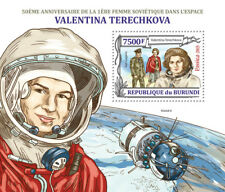 Valentina Tereshkova First Woman Cosmonaut Space Stamp Sheet #2 (2013 Burundi)