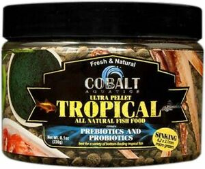 8.1oz Cobalt Ultra Tropical Micro Grazer Wafer, FREE 12-Type Pellet Mix Included