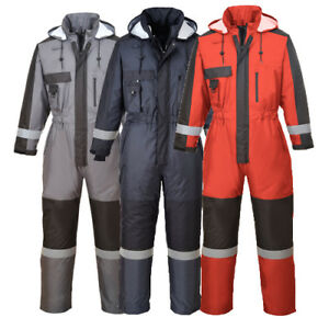 Portwest Winter Coverall Overall Cold Protection Work Wear Waterproof S585