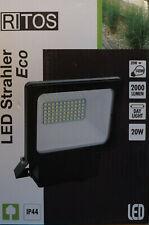 2x RITOS/REV LED Strahler Eco  20W schwarz IP44