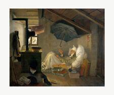 Der arme Poet - Carl SPITZWEG Kunstdruck auf Leinwand Poster Plakat Bild