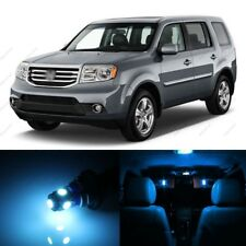 15 x ICE BLUE LED Lights Interior Package Kit For Honda PILOT 2009 - 2015 + TOOL