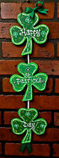 ST PATRICK'S DAY Shamrock HANGER Door Wall Art SIGN Hanging Plaque IRISH Decor