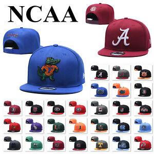Embroidered College Football Logo Baseball Caps Unisex Snapback Sports Hats USA