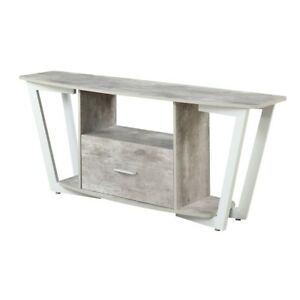 "Convenience Concepts Graystone 60"" TV Stand, Gray/White - 112085GYWF"
