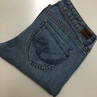 X2 Jeans Women's Sz 6 Long Skinny W01 Ultra Low Rise Boot Cut Light Wash
