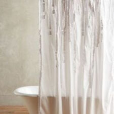 """NEW IN THE PACKAGE ANTHROPOLOGIE DRAPED WISTERIA COTTON SHOWER CURTAIN 72"""" X 72"""""""
