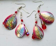 Fishing Lure Earrings, Ocean Sunrise, Mother/Daughter Match Earring Set