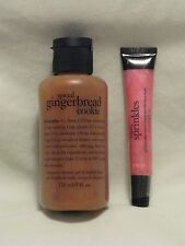 Philosophy 'Spiced Gingerbread Cookie' Shower Gel 3-in-1 & Lip Gloss Set NEW