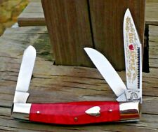 1/500 Fight'n Rooster Stockman Knife 1996 Big Apple blade etch heart shield NM