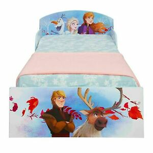 Frozen 2 Toddler Bed  With Protective Side Panel Kids Official Disney