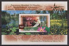 Australia Stamps 1997 Kakadu Wetlands $10 Minisheet OVERPRINT Italia 98