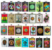 Indian Handmade Decor Wall Hanging Cotton Yoga Mat Ethnic Poster Size Tapestry +