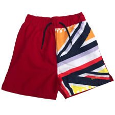Ben Sherman Boys Swimming Shorts Dawn Red Union Jack Ages 7 Years - 15 Years