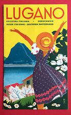 Reise Prospekt LUGANO Südschweiz Schweiz um 1936  ( F15157