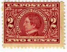 1909 2c Seward perf 12 carmine (SC# 370) UNUSED Original Gum – Hinged