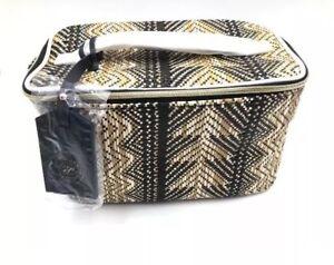 Estee Lauder straw maldives tan Train Cosmetic Makeup Case Bag large travel Bag