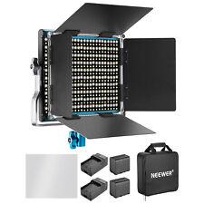 Neewer Pannello Luce 660 LED Blu Bicolore 3200-5600K con Batterie & Caricatori