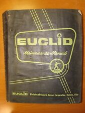 EUCLID FOR SCRAPER & REAR DUMP MAINTENANCE MANUAL - VARIOUS MODELS