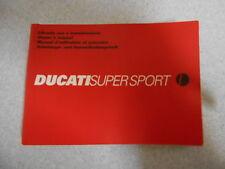 Fahrerhandbuch Betriebsanleitung Ducati 750 900 SS Supersport 2001 owners manual