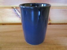 Navy Blue Ceramic Bathroom Cup Tumbler Toothbrush Holder Solid Color EUC!