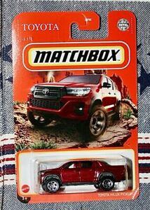 2021 Matchbox Toyota Hilux Pickup Red Truck