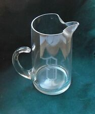 """Crystal Beer Stein engraved with """"S"""", Liter Size"""