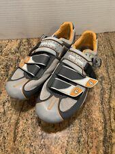 PEARL IZUMI Women's MTB ATTACK Cycling Bike Shoes EU Size 39 Grey Orange