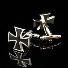 Awesome tono argento nero croce GEMELLI HE-MAN Retrò Geek SAN VALENTINO regalo uomini