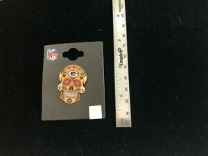 Green Bay Packers Sugar Skull Pin - NEW First Issue! - NFL