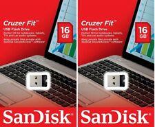 Lot 2 x SanDisk 16GB CZ33 Cruzer Fit (=32G) 16G USB 2.0 Flash Drive SDCZ33-016G