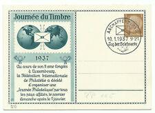 """DR Privat-GA """"Journée du Timbre"""" 3 Pfg. 1937 Sonderstempel Aschaffenburg"""