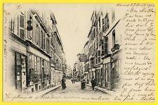 cpa 77 - MEAUXen 1902 Rue St NICOLAS Commerces à Alex E. BOCQUILLON Espana