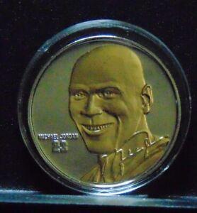 MICHAEL JORDAN BULLS .999 SILVER W/ 24KT GOLD ROUND HIGHLAND MINT COIN 1/1000