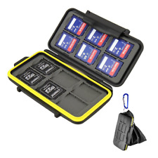 Beeway Memory Card Carrying Case Holder for SD SDHC SDXC - 12 Slots Sealed with